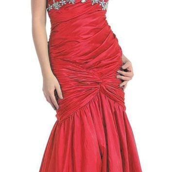 US Fairytailes Strapless Junior Prom Dress Long Gown #2761