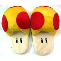 Super Mario Brothers Mushroom Slippers