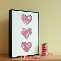 DIY Craft Kit Hand Cut Framed Hearts | Luulla