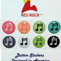 Colorful Musical Notes 8 Pieces Home Button Stickers for iPhone 5 4/4s 3GS 3G, iPad 2, iPad Mini, iPod Touch