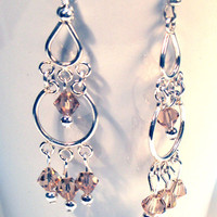 Topaz Chandelier Swarovski Crystal Earrings by lindab142 on Etsy