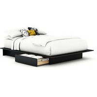 South Shore SoHo Full/Queen Platform Bed, Black