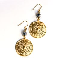 Bohemian Circle Earrings Geometric Tribal Shields by AtelierYumi