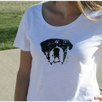 Bulldog T Shirt  Womens by punksyshop on Etsy