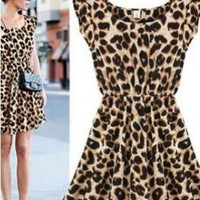 Casual Leopard Dress for Women, Dress