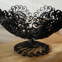 Vintage 1960s black wrought iron fruit by StompAndChompVintage