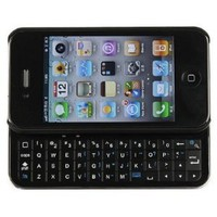 Wireless Bluetooth Sliding Keyboard + Rubberized hard shell case for iphone 4 (AT&amp;T or Verizon)