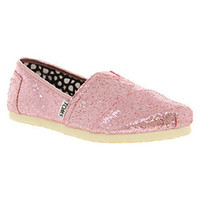 Toms SEASONAL CLASSIC SLIP ON GLITTER PINK Shoes - Womens Flats Shoes - Office Shoes