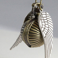 SALE Flying wings vintage Snitch Pocket watch by qizhouhuang
