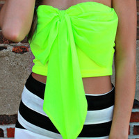 Black Light Party Bow Bandeau