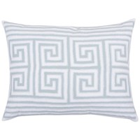 Athena Greek Key Blue Throw Pillow