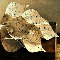 Two Dozens Calla Lilies Made of Vintage Music Sheets | AccentsandPetals - Wedding on ArtFire