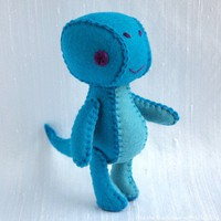 Alta the Brachiosaurus Wool Felt Plush Art Doll by nonesuchgarden