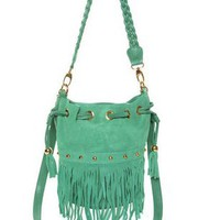 Cute Mint Green Handbag - Fringe Bag - &amp;#36;48.00