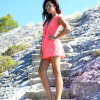 pre-order - cameo operator romper - neon - arrives late august at Esther Boutique