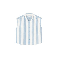 Erika striped denim shirt | Tops | Monki.com