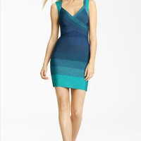 Herve Leger Crisscrossed Ombre Bandage Dress - $226.00