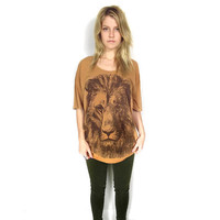 Lion tunic slouchy oversize tshirt One Size by BetterStayTogether