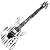 Schecter Synyster Gates Custom White w/ Black Stripes Electric Guitar:Amazon:Musical Instruments