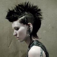 Dragon Tattoo Fake Gauges - Rooney Silver Tipped Spirals - Horn