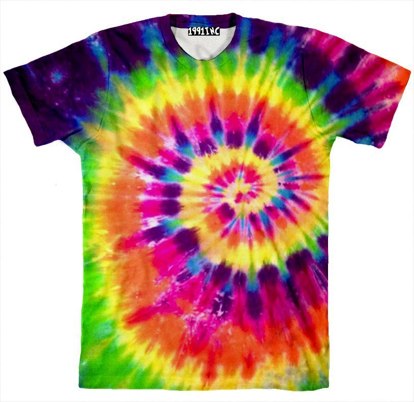 Tie dye shirt from 1991 inc for Making a tie dye shirt