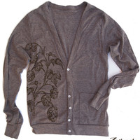 Unisex HOPS Tri-Blend Coffee Cardigan - American apparel XS S M L