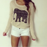 Mink Pink Lucky Elephant Sweater