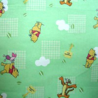 SheetWorld Fitted Pack N Play Sheet - Pooh Green - Made In USA