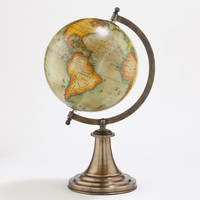 Antique Green Globe with Brass Stand - World Market