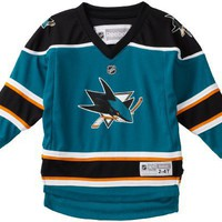 NHL Toddler San Jose Sharks Team Color Replica Jersey - R54Hwbrr (Teal, 2-4T)