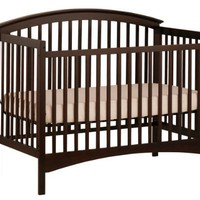 Stork Craft Bradford Fixed Side Convertible Crib, Espresso
