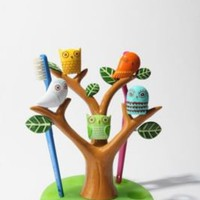 UrbanOutfitters.com > Owl Tree Toothbrush Holder