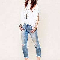 Free People Womens Destroyed Ankle Skinny -