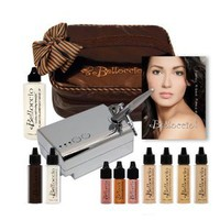 Belloccio's® Complete Professional Airbrush Cosmetic Makeup System with a Medium Shade Airbrush Makeup Foundation Set & Free Carry Bag, Highlighters & Blush, (Belloccio Is the Superior Brand of Airbrush Makeup), Our 30-day No-risk Guarantee: Try It Then Lo