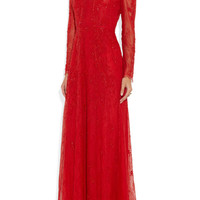 Valentino|Embroidered lace gown|NET-A-PORTER.COM