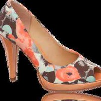Graceland Peeptoe Pump 36 Multi-Color material Pale Pink Heel and Platform