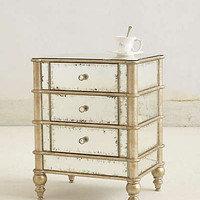 Anthropologie - Mirrored Nightstand