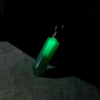 Magical Stone Pendulum  Glow in the Dark Neon Green by Clover13