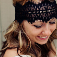 Black Lace Headband