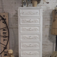 Painted Cottage Chic Shabby White French Dresser CH81