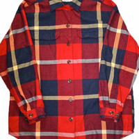Vintage Eddie Bauer Mens Plaid Shirt Mens Size Large