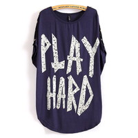 Play Hard Loose T-shirt With Skull Botton