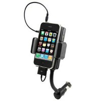 Car Kit Mount Holder FM Transmitter for iPhone iPod MP3 or any with 3.5mm Plug