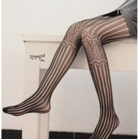 Linear and Lattice Tights - Tights &amp; Socks - Goods - Retro, Indie and Unique Fashion