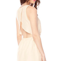 Beady Scalloped Dress in Cream :: tobi