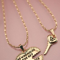 Wildfox Couture -  Wildfox - Heart and Key  - Necklace