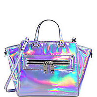 MILLY - Holographic Demi Tote - Saks Fifth Avenue Mobile