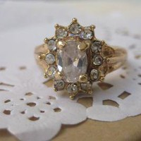 Vintage Cocktail Ring by ClementinesJewelry on Etsy