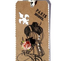 French Corset Gift Tags/Set of 2/Ooh La La by valburgesscollage