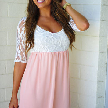 She's So Rosy Dress: Peach | Hope's